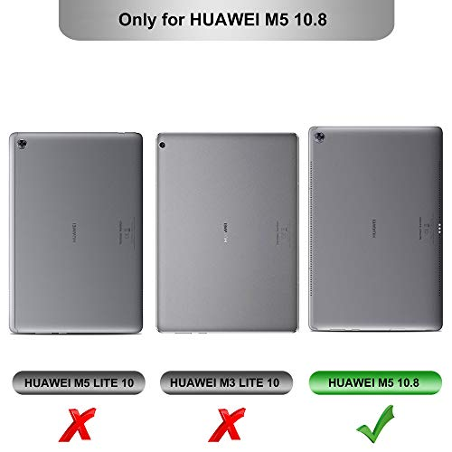 Huawei MediaPad M5 10.8 Zoll Hülle, IVSO Ultra Schlank Ständer Slim zubehör Schutzhülle perfekt geeignet für Huawei MediaPad M5 10.8 Pro /M5 10.8 2018 Modell Tablet PC (SZ-Schwarz) - 2
