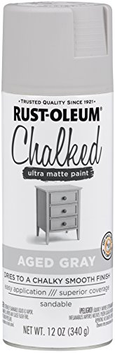 Rust-Oleum 302592 Chalked Spray Paint, 12 oz, Aged Gray/Gray