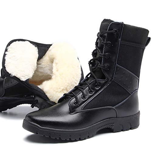 YU-S Wandelschoenen, Man's Outdoor High Top Desert Combat Laarzen Zwarte Anti-Skid Schoenen Warfare Klimmen Reizen