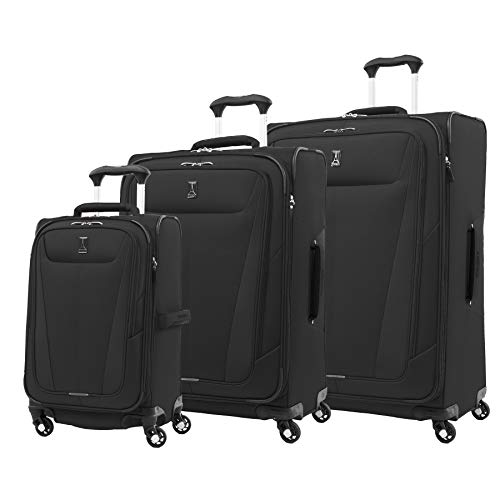 "Price comparison product image Travelpro Maxlite 5 Lightweight 3-piece Set(21"",  25"",  29"") Expandable Softside Luggage Black,  3 PC (21 / 25 / 29)"