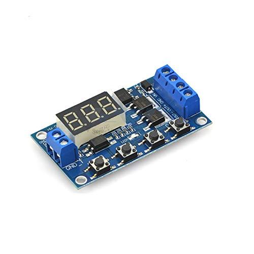 HAIJUNSM Relé DC5-36V DULAS Mos LED Digital Tiempo Tiempo Relé Tiempo de activación Temporizador de Temporizador Temporizador Interruptor de Circuito Módulo de Control de distribución DIY
