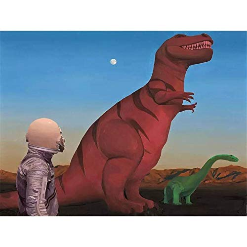 5d Diamond Painting Kits for Adults Kids Full Round Drill Diamond for Home Wall Decor Astronauts and Dinosaurs. 15.7x11.8 in by Megei