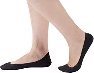 6 Pairs Women Truly No Show Socks Low Cut Liner With Non Slip Grips Cotton Boat Invisible Hidden Socks