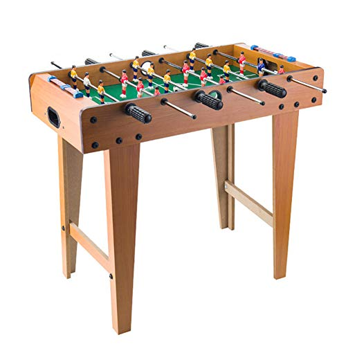 Table Soccer Houten Voetbal Tafel Fun Football Toy Set Long Feet 19 '' Countertop 6 Joysticks Houten Frame Gebruikt voor Family Entertainment, Ouder-kind interactie, lichamelijke en geestelijke oefening