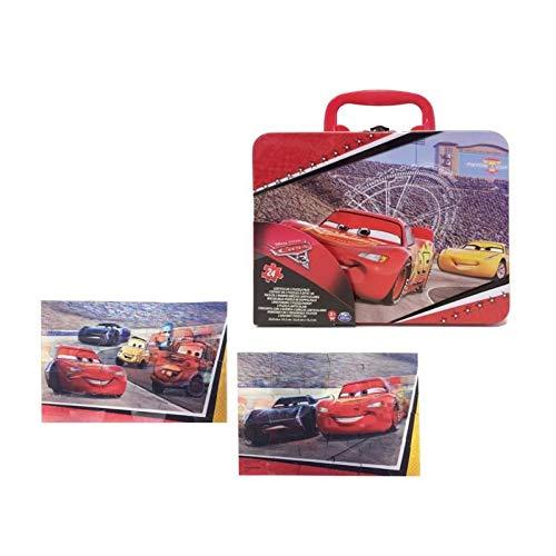Cardinal 6035603, grote metalen koffer, 2 3D-puzzels van Cars 3 (Franse versie)