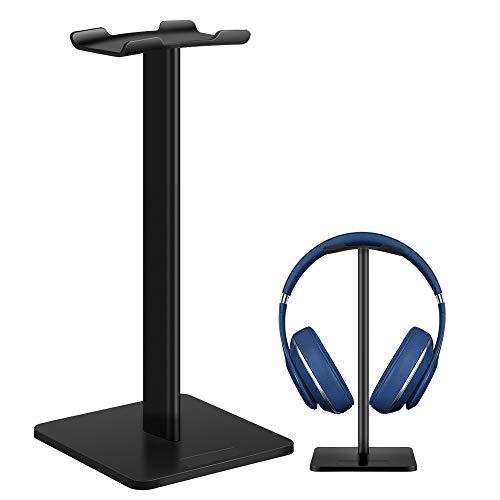 ヘッドホンスタンド ヘッドセットスタンド Sony Audio-Technica BOSE AKG Beats Panasonic KingTopなど対応 (Black-S)