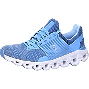 ON Running Womens Cloudswift Textile Synthetic Lake Sky Trainers 8 US