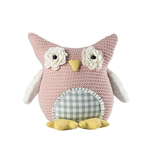 Easter Plush Owl Decor Doll, Spring Easter Gnomes Plush, Spring Holiday Home Decorations Gift 2021 Ornaments Pink 10 inch