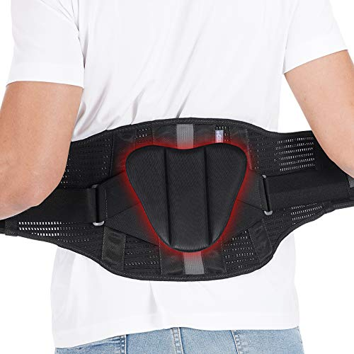 """Back Brace Back Support Belt Flexible Lumbar Support Lower Back Brace for Pain Relief Back Support Brace for Lifting at Work Scoliosis Pain Relief Brace L/XL Fits Waist Size30""""37"""""""