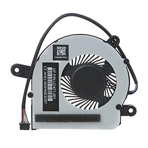 Wenyounge Reemplazo del Ventilador de CPU para computadora portátil EliteDesk 800 G3 405 G4 L21471-001 Enfriador de 4 Pines CPU Ventilador de un Solo Ventilador Fuerte Flujo de Aire