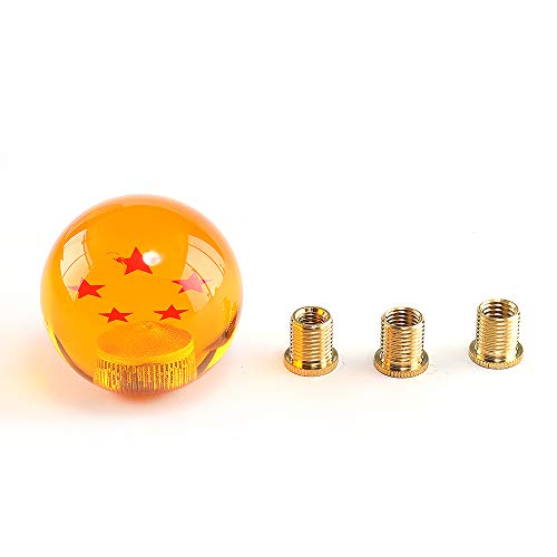 Top10 Racing Manual Stick Shift Knob Dragon Ball Z Star with Adapter Fits Most Cars 1-7 Stars 54MM (5 Star)