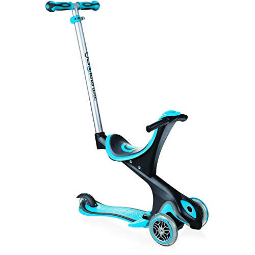 Globber Unisex kinder Scooter EVO COMFORT 5in1, Blau (sky-blau), Einheitsgröße, 458-101