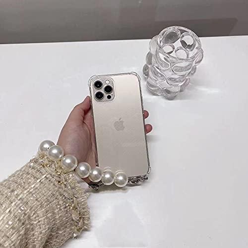 LIUYAWEI Luxury Large Bracciale di Perle Collana a Catena con Cordino Custodia Morbida per Samsung Galaxy S9 S10 S20 Plus Note 8 9 A51 A71 Fashion Cover, 1, per Samsung S9
