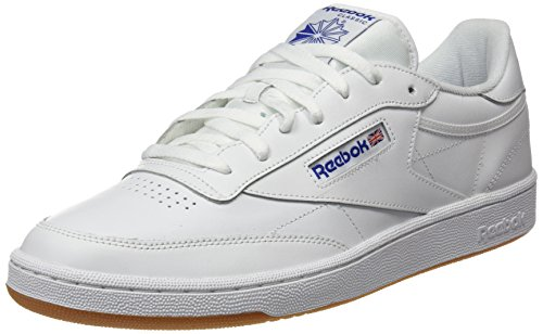 Reebok Club C 85, Zapatillas para Hombre, Blanco (INT White/Royal Gum), 44 EU