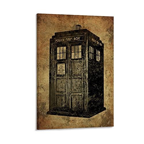 Póster retro de la cabina del teléfono y arte de la pared de la impresión moderna del dormitorio familiar de 50 x 75 cm