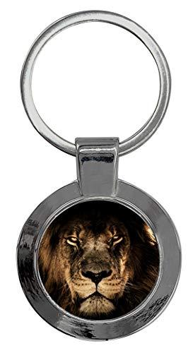 Schlüsselanhänger Rund mit Gravur Wunschtext Löwe Tier V4
