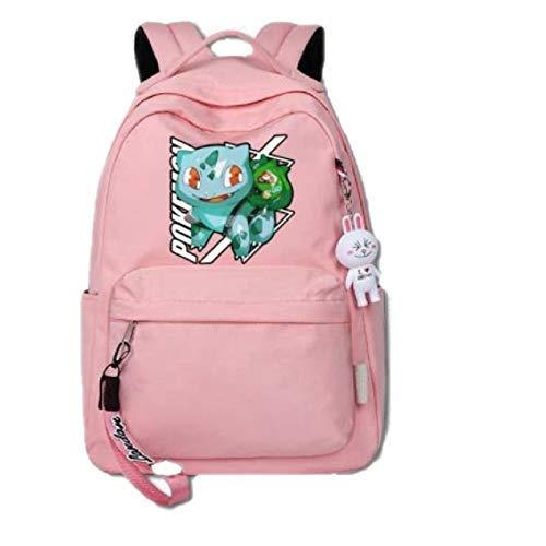 min min Pokemon School Bag Pokemon Pokémon Pokémon Pikachu Surrounding Student Large-Capacity Schoolbag Men and Women Backpack