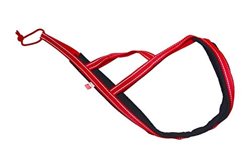 Sali Sled Flash X-Back Zuggeschirr reflektierend Canicross, Bike, Skijoring, Dogscooting,Hundeschlittten in Rot (XXXL)