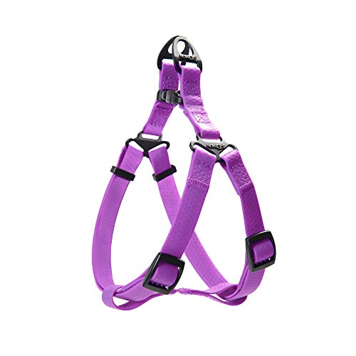 HOWGO Dog Halter Harness,Essential Dog Harness,Step in Harness,Dog Basic Harness,Waterproof&Odor-Proof,Anti-Slip,Easy Clean,for All Breeds (Purple, Medium)