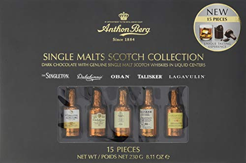 Anthon Berg 15-Piece Single Malts Scotch Collection Assorted Chocolates Set