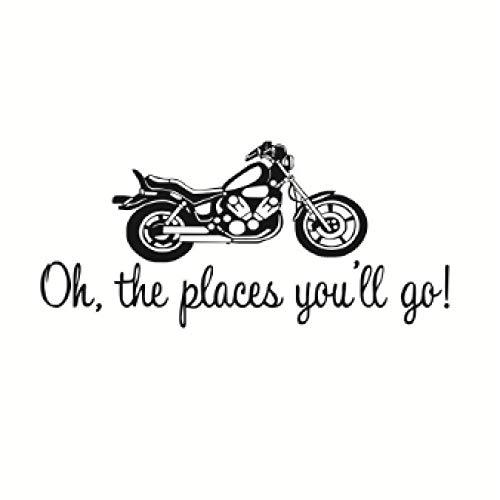 Muurstickers (DIY) Oh Waar U Gaat Klassieke Motorfiets Muursticker Slaapkamer Jongen Kamer Decoratie Vinyl Verwijderbare Kunst Muursticker Muursticker 59 * 27Cm