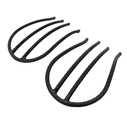 set384mbk ヘアアクセサリー 髪飾り (リトルムーン) インナーヘアアクセ Eスティックプラスショート 2本セット マットブラック