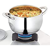Borosil Stainless Steel Handi Casserole with Lid, Impact Bonded Tri-Ply Bottom, 2.9 L