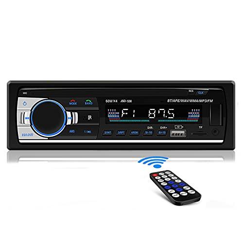 [Nuevo Version] Andven Radio Coche Bluetooth, Manos Libres Radio Estéreo de Coche 1 DIN, Autoradio Apoyo FM / Doble USB / TF / Función AUX