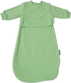 Baby Long Sleeve Sleep Bag for Spring Autumn,100% Cotton Wearable Blanket Baby Sleeping Bag, Sleepwear (Green, S:0-12M)