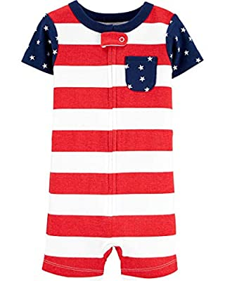 1-Piece 4th of July Snug Fit Cotton Romper PJs (12 Months)