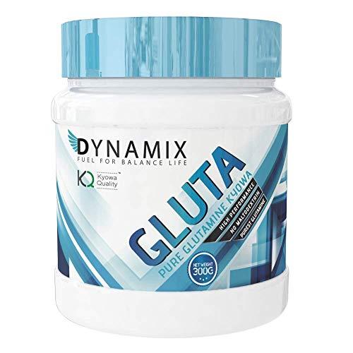 L-Glutamina de Dynamix es un suplemento que contiene el aminoácido L-Glutamina de pureza de grado farmacéutico en polvo de la mayor calidad y eficacia - 300 Gr - Sabor Neutro