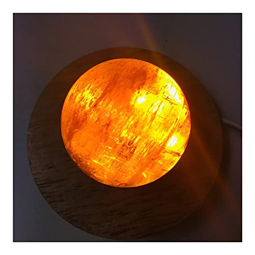 YANGB Naturalmente Irregular 5-6 cm Amarillo calcita Bola Artesanal lámpara de Cristal Artesanal wicca Accesorios de decoración del hogar Propiedades de Piedras Preciosas Naturales
