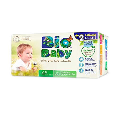 MOLTEX Bio baby pañales 9-13 kgs talla 4 G paquete 34 uds