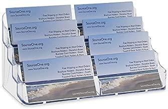 SourceOne 8-Pocket Desktop Business Card Holder Rack