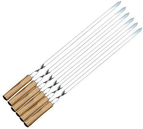 YYAI-HHJU Home Quality inspection Stainless Steel Skewers low-pricing W Grilling Long for Flat