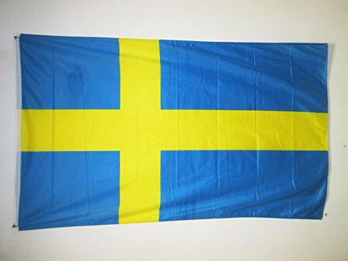 AZ FLAG Flagge SCHWEDEN 150x90cm - SCHWEDISCHE Fahne 90 x 150 cm Aussenverwendung Metallösen - flaggen Top Qualität