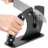 Kitchen Knife Sharpener, 2021 Upgraded Self-adjusting Sharpener For All Knives, Quickly Sharpen And Polish Beveled, Standard Blades, Tungsten Carbide, Ergonomic Sturdy Grip