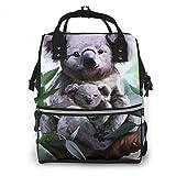 Mochila De Pañales para Cambiar Pañales Koala su bebé árbol, Gran Capacidad...