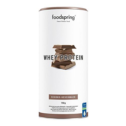 foodspring Proteína Whey, Sabor Chocolate, 750g, Fórmula en polvo alta en proteínas para unos músculos más fuertes, elaborada con leche de pastoreo de primera calidad