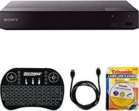 Sony BDP-S6700 4K Upscaling 3D Streaming Blu-ray Disc Player + Accessories Bundle Includes, 2.4GHz Wireless Backlit Keyboard w/Touchpad, 6ft HDMI Cable and Laser Lens Cleaner for DVD/CD Players