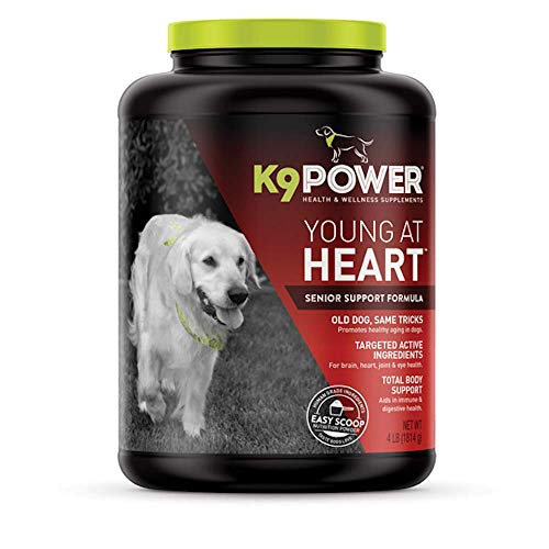K9 Power - Young at Heart  Nutritional Supplement for Senior Dogs  Promotes Healthy Aging  Supports Brain  Heart  Vision  & Joint Health  4lbs