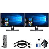 Dell P2418HT 24' 16:9 10-Point Touchscreen IPS Dual Monitor Set with 1 - PowerStrip and 2 - HDMI Cables