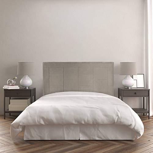 Dreaming Kamahaus Cabecero Agatha | Tapizado Tejido Nido | 190 x 120 cm | para Camas de 180 cm |Color Nido 3/Beige | Antimanchas