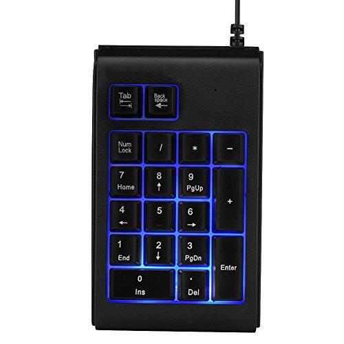 Teclado Numérico Mecánico, Mini Teclado Numérico con Cable USB, Retroiluminación de 3...