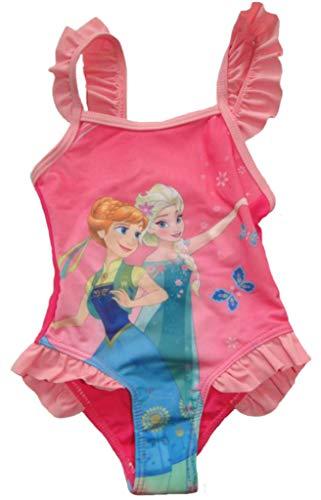 Kiddystores Anna & ELSA Mädchen Badeanzug Frozen die Eiskönigin Kinder Bademode (86/92, pink)