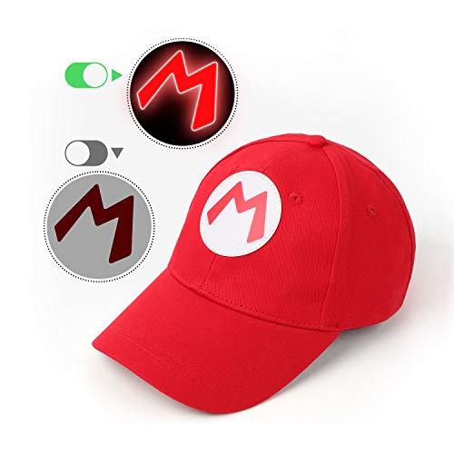 CASA CLAUSI Rot leuchtender Hut Cosplay Kostüm Cap