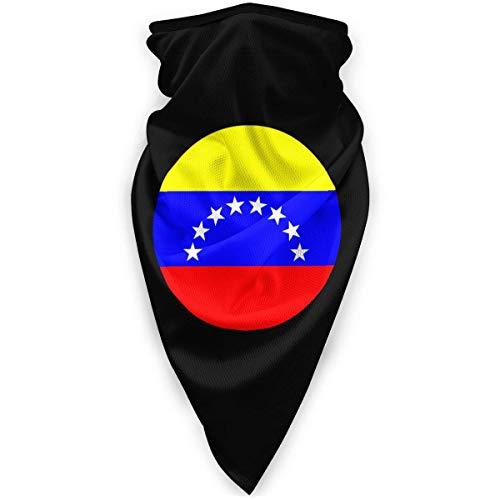 ulxjll Face Scarf Círculo Bandera Venezolana Deportes Al Aire Libre Mujeres Festivales Sombreros Pañuelos para Correr Sin Costuras Al Aire Libre Hombres Cuello Gaiter Calentador Colorido