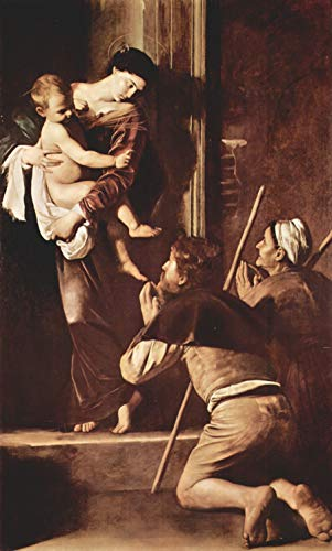 Home Comforts Caravaggio, Michelangelo - Madonna of The Pilgrims Vivid Imagery Laminated Poster Print 24 x 36