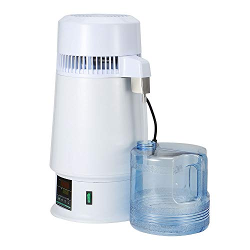 Purificador De Destilador De Agua, Destilador De Agua De Temperatura Ajustable Multifunción De Acero Inoxidable Para Odontología Hogar, Oficina(Estándar europeo 220V)