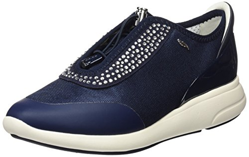 Geox D Ophira E, Zapatillas Mujer, Azul, 38 EU